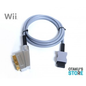 High quality RGB scart video cable for PAL Wii Csync - gold shielded kabel