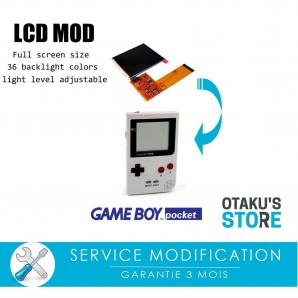 Modern lcd full screen backlit installation service for Game Boy Pocket - Modification - backlight