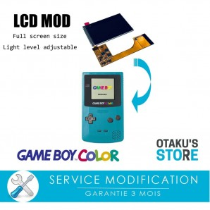 Modern lcd full screen backlit installation service for Game Boy Color - Modification - backlight