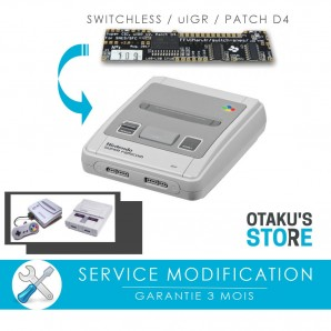 Modification Region Free uIGR switchless pour Super Nintendo / SFC - Forfait SNES super pic modding