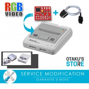 By-pass RGB Video Mod for Super Nintendo or SFC installation service - Modification Super Famicom bypass