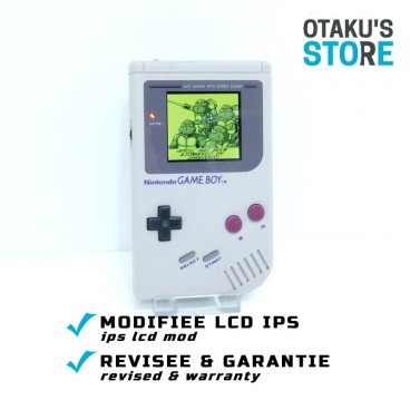 IPS LCD mod Game Boy Classic console + battery mod* DMG-01 backlit