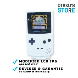Console Game Boy Color IPS LCD mod blanche - DMG-01