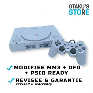 Console Playstation MM3 + DFO + PSIO Switch - compatible USA/JAP/PAL - PS1