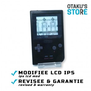 Console Game Boy Pocket IPS LCD mod noire