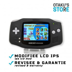 Black LCD IPS Game Boy Advance console - backlit AGS-101 mod