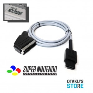 High quality RGB scart video cable for PAL Super Nintendo - Csync shielded