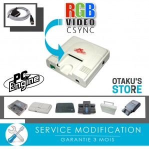 RGB Mod installation service for Nec console PC Engine, Duo-r, Super Grafx, Core, Shuttle, Turbo grafx - Nec Modding